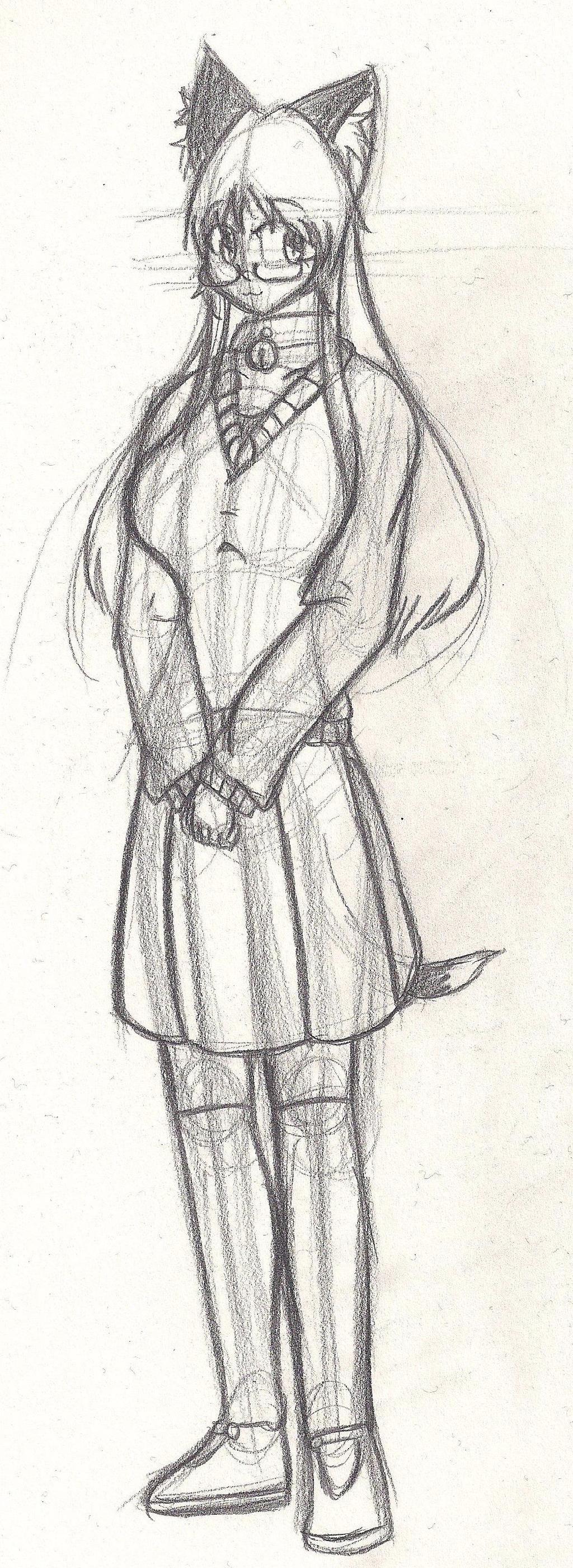 Miyari Nekoko doodle - 1/13/2014 by GlassMan-RV