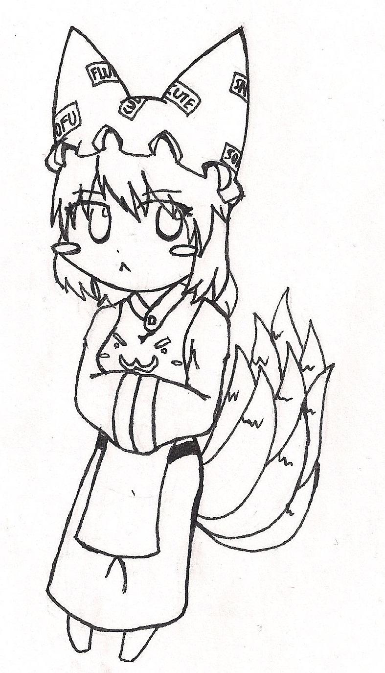 Ran Yakumo doodle-thing 1 by GlassMan-RV