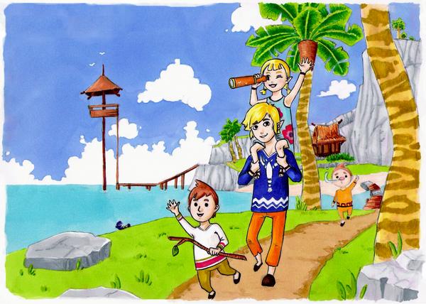 Island kids by draindeimos