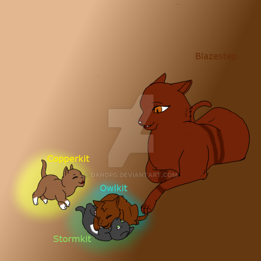 Blazestep, Owlkit, Copperkit, Stromkit by DanDrg