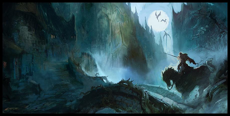 Castle Near The Swamp by MaxD-Art