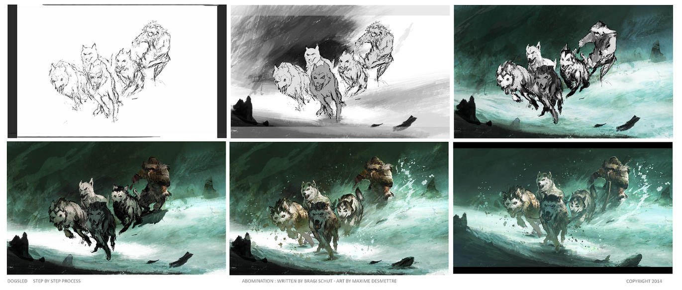 Abomination : DogSled - Step by Step Process by MaxD-Art
