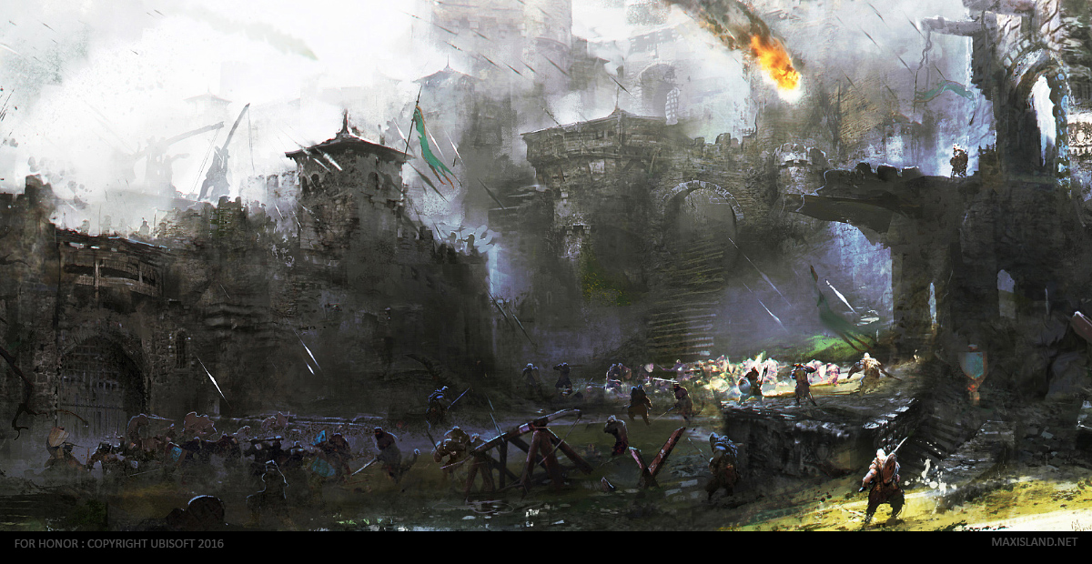 Forhonor courtyard 39 s battle by maxd art on deviantart - Battlefield screensaver ...
