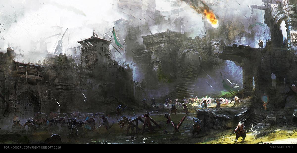 Forhonor courtyard 39 s battle by maxd art on deviantart - Battlefield screensaver ...