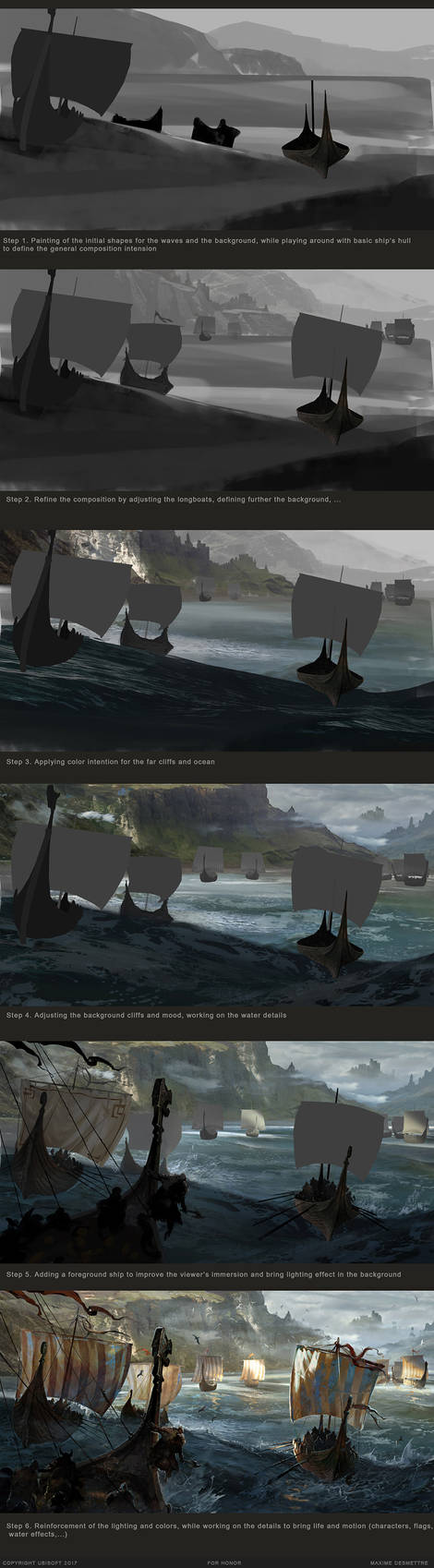 For Honor : ApproachingTheCoast WiP by MaxD-Art