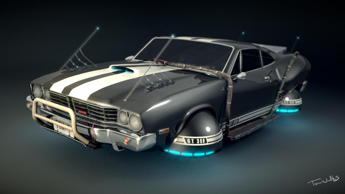 Hover Car model  Blender 3D  by TomWalksBlender 3d Art