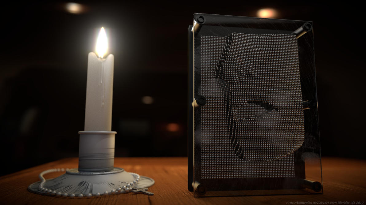 Pin art Ghost (Blender 3D  Cycles render) by TomWalks on