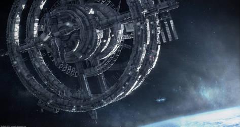 Space Station (Blender + Gimp) by TomWalks
