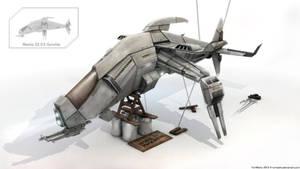 Mantis Gunship -work in progress- Blender 3D/Gimp