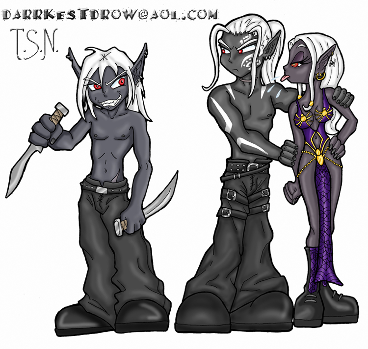 Chibi Drow Trio By Darrkestdrow On Deviantart