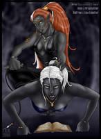 Xullrae and Alya by DarrkestDrow