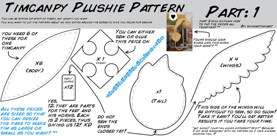Timcanpy Plushie How-to part 1 by shinobitokobot