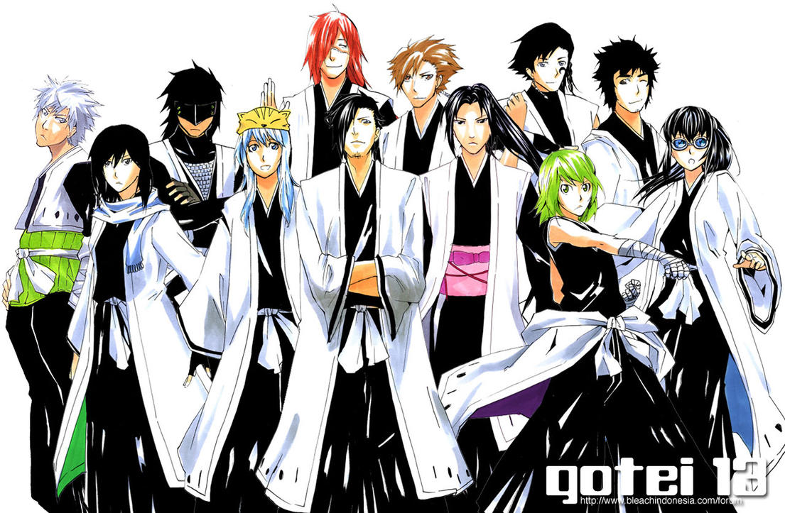 Gotei13 Captains Wallpaper by Hantwo