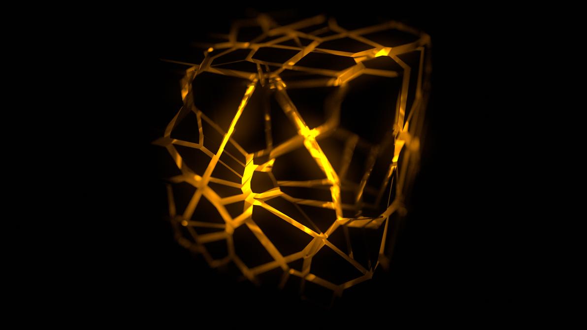 Orange fractured cube wallpaper 4k by themusicfox on for Buy digital art online