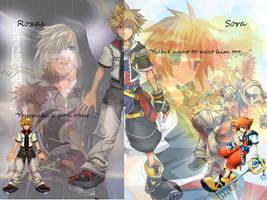 Roxas + Sora Wallpaper by DestinyXLove