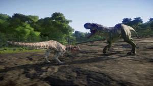 T. rex vs ceratosaurus 1
