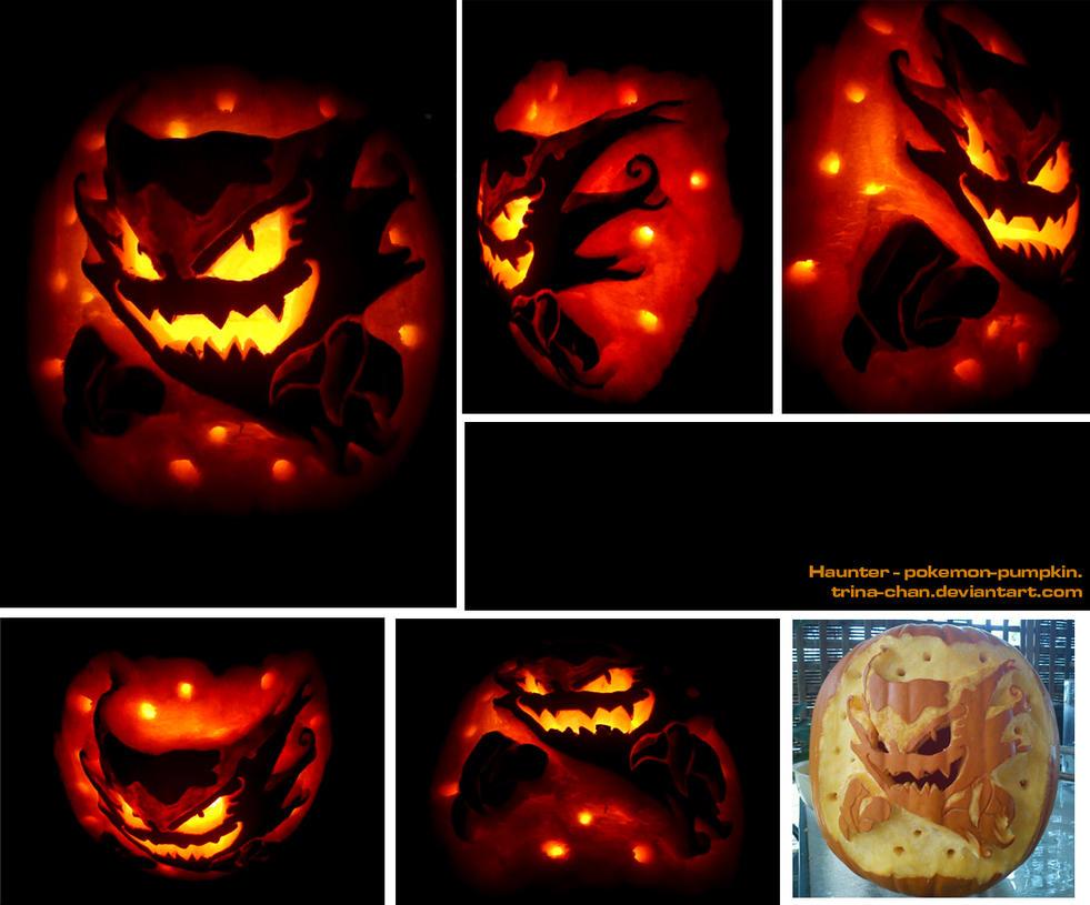 haunter pumpkin by trinamon on deviantart