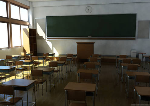 the japanese style classroom