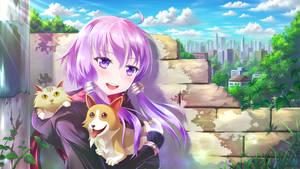 Yuzuki Yukari, loved Animals by MyungsooLim