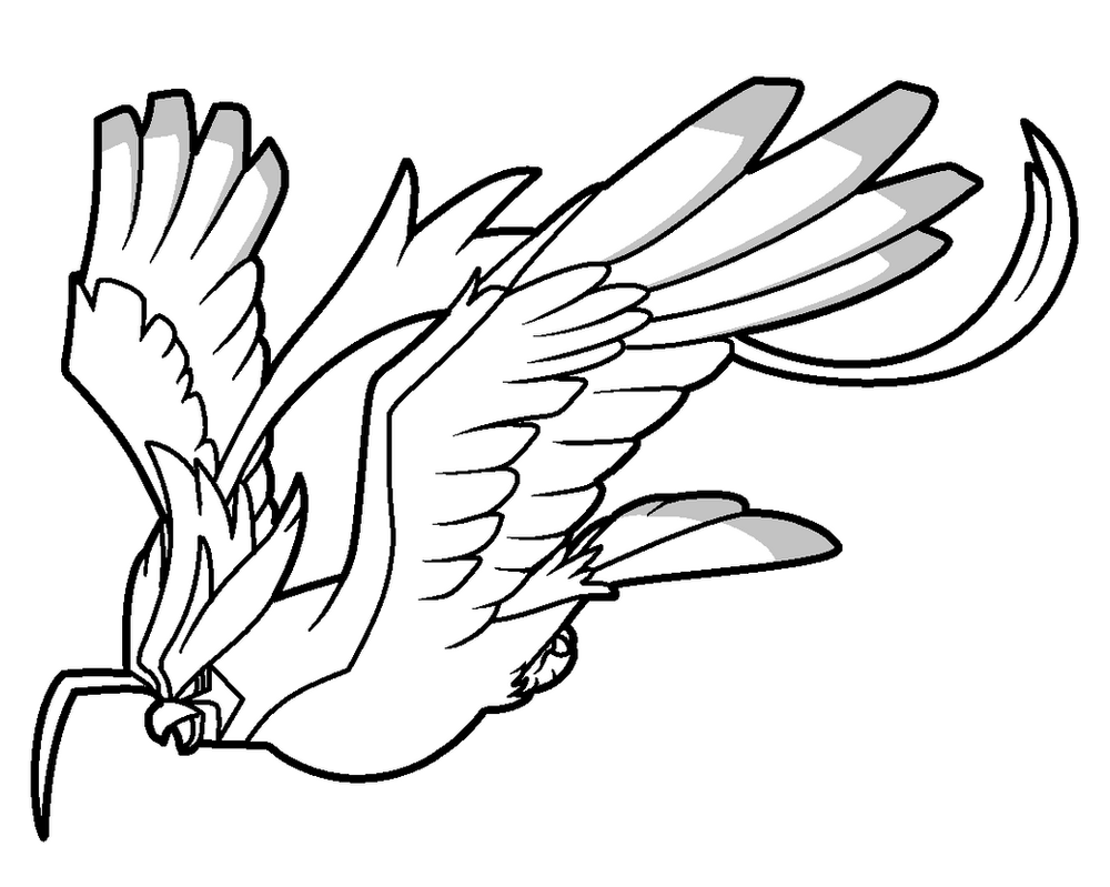 pidgeot pokemon coloring pages - photo#9