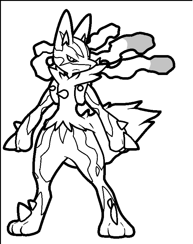 pokemon coloring pages mega lucario-#22