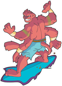 Magma Surfing - colored