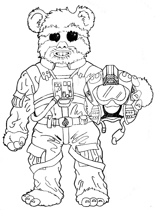 star wars ewok coloring pages - photo#8