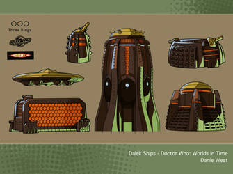 Dalek Ships - Doctor Who: Worlds In Time by westernphilosopher