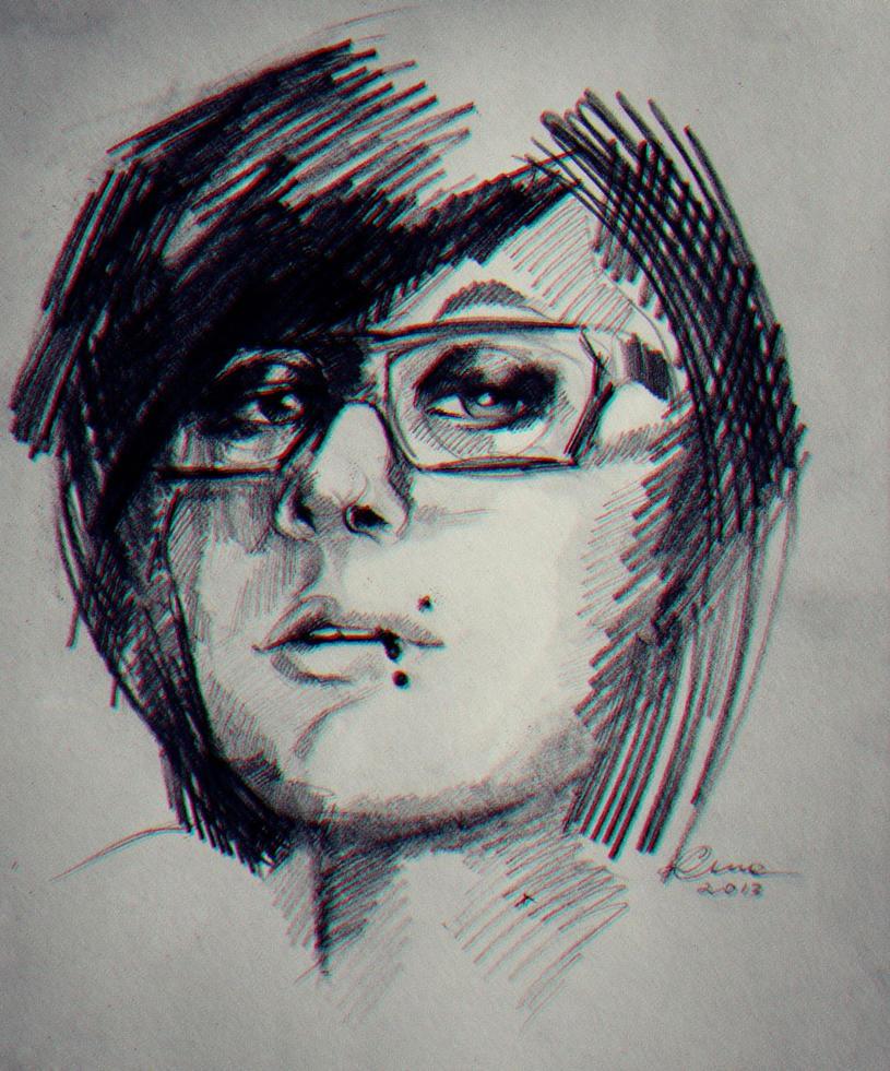 Luna_selfportrait by LunaDiCarlo