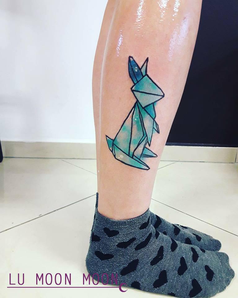 Origami Rabbit Tattoo By LunaDiCarlo