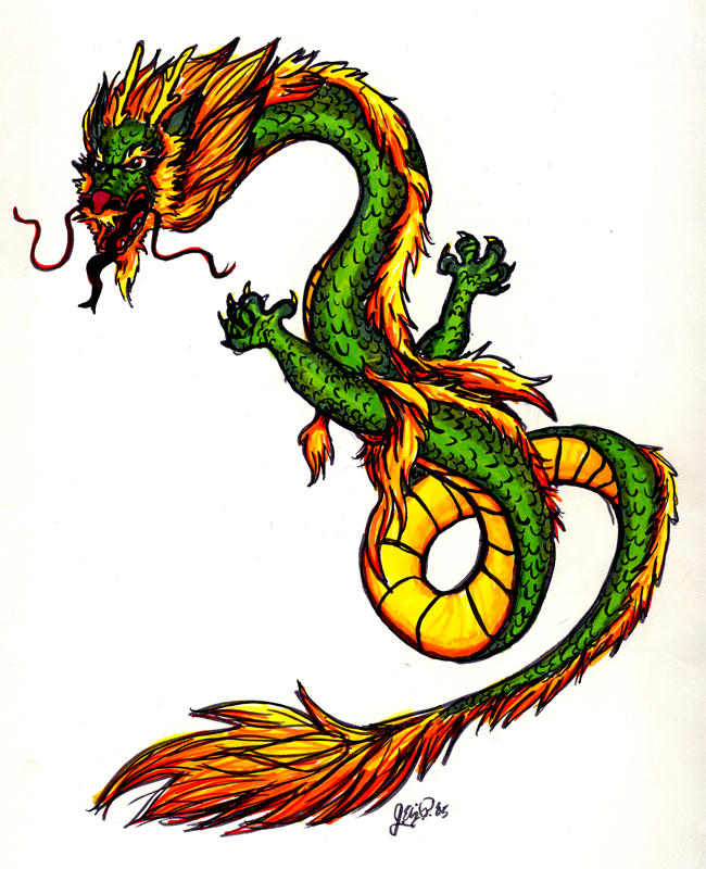 Chinese Dragon In Color By Davenevanxaviour ...