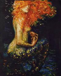 Red Mermaid by aboredlifeisboring