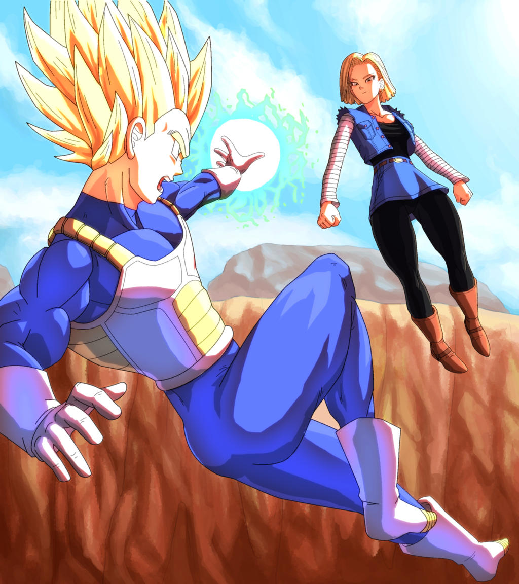 Android 18 And Tail Deviantart: Vegeta Vs Android 18 By Jugie On DeviantArt
