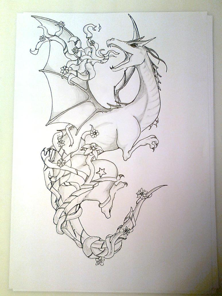 Dragon tattoo by marttchu on