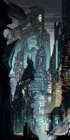 Futuristic city by weebasaurus