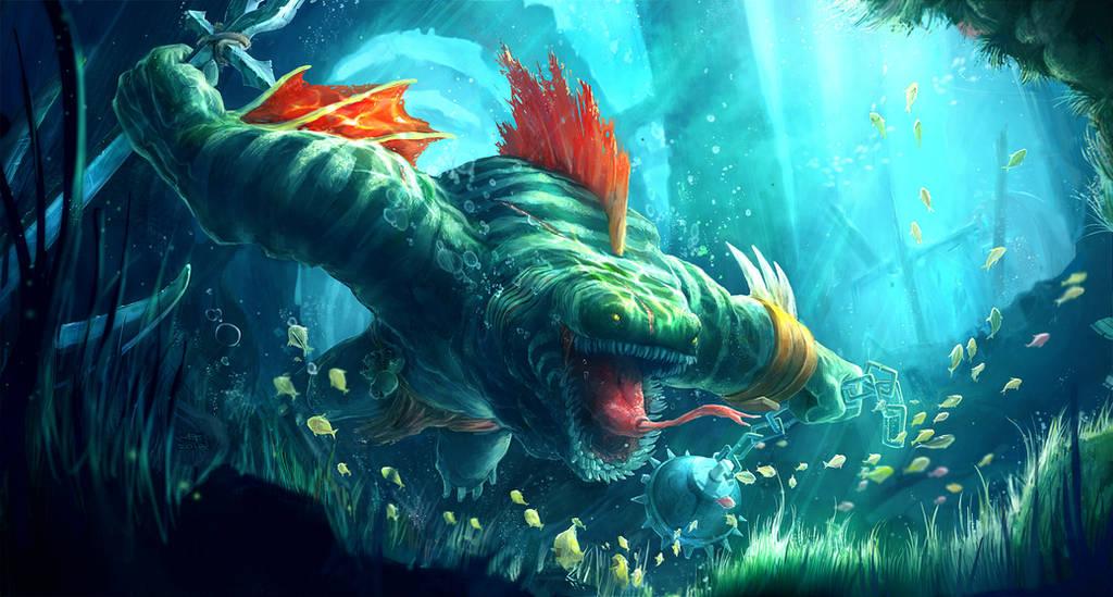 Leviathan the Crimson Tidehunter by weebasaurus