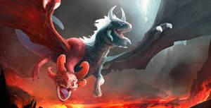 Jakiro, the Twin Head-Dragon. by weebasaurus