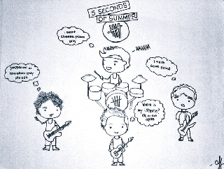 My little 5 sos drawing by ayabrea432