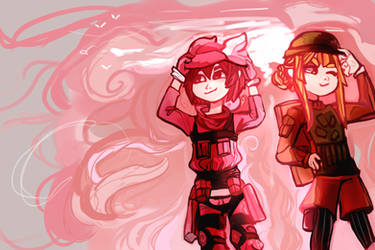 Gun Gale Online LLENN and Fuka by paper-poppy