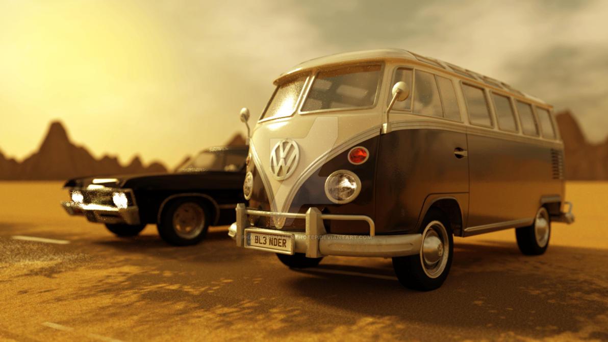 VW Bus by Pharaoh-Hamenthotep
