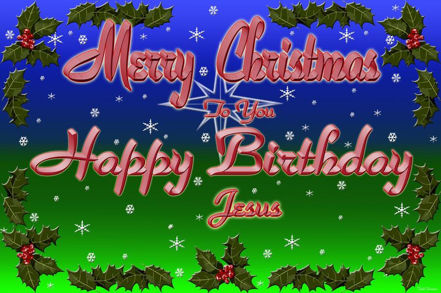 Merry Christmas, Happy Birthday by JustmeTD on DeviantArt