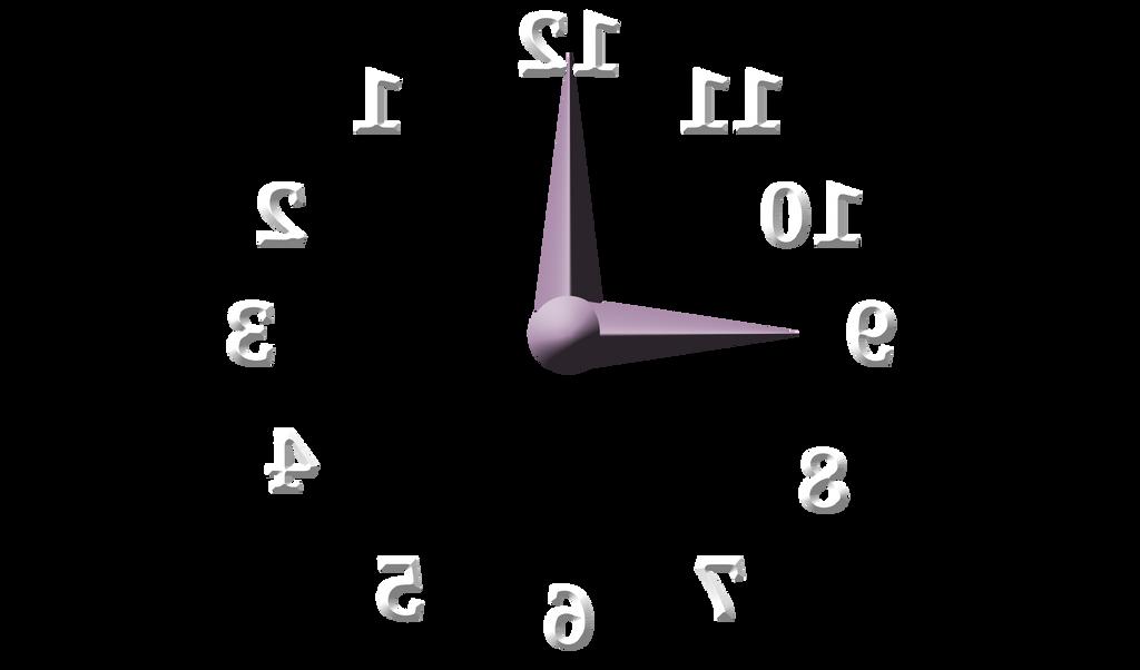 Backwards Clock  PNG by JustmeTD