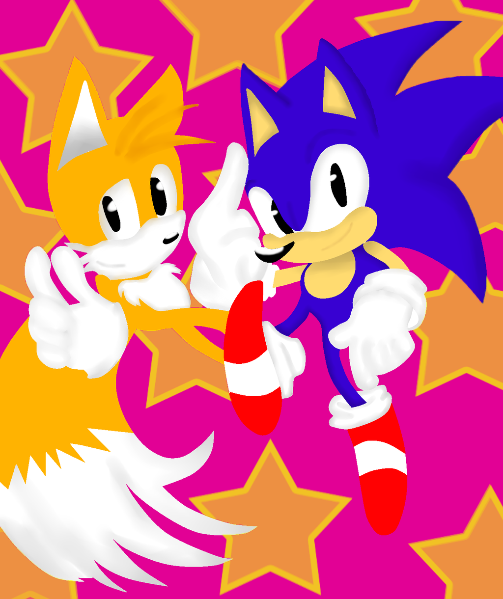 .:CE:. Classic Sonic and Tails by Nikki-Kaji