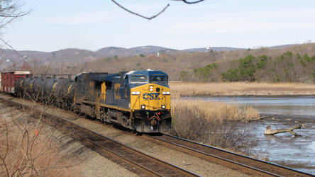 Southbound CSX freight by EllieMaeCrockett