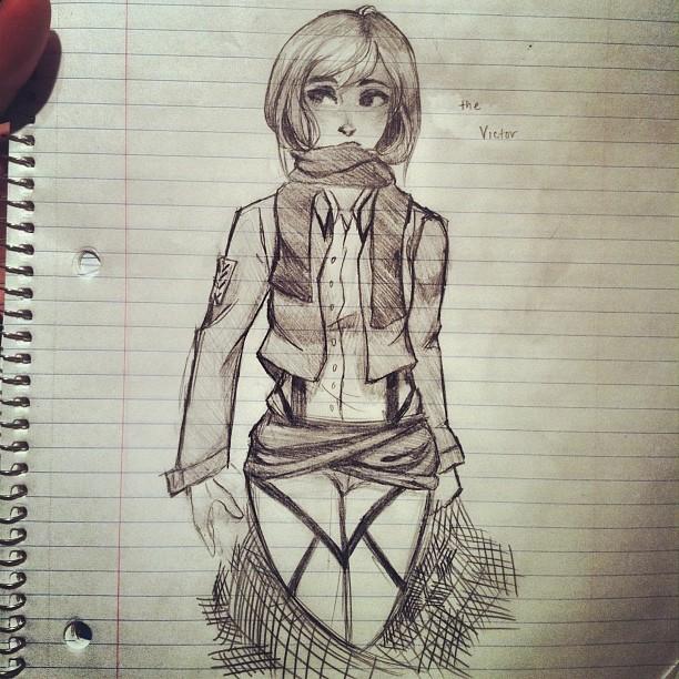 Mikasa Ackerman by taggerungotterboy