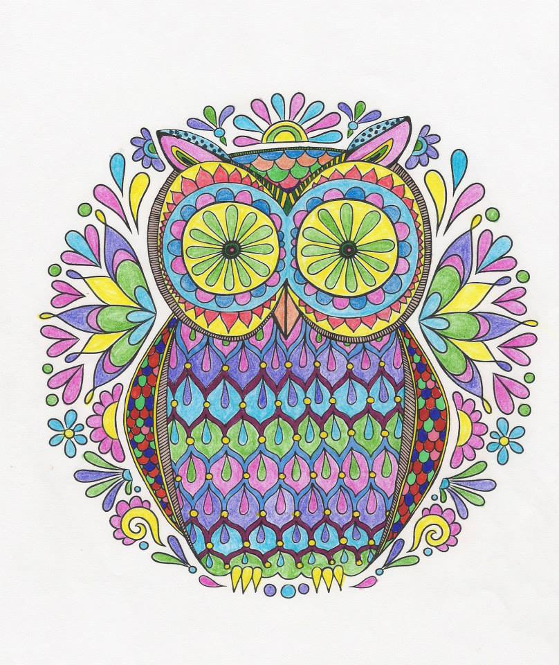 Mandala Owl by WiccaSmurf
