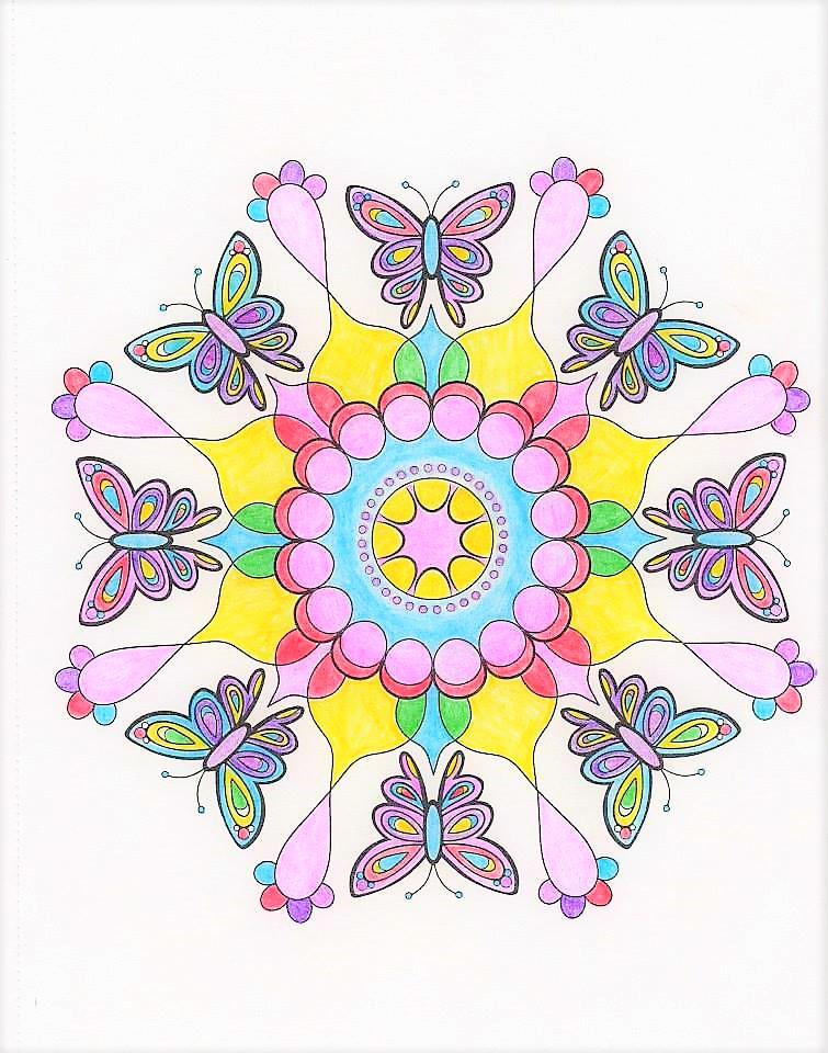 Mandala Butterflies by WiccaSmurf