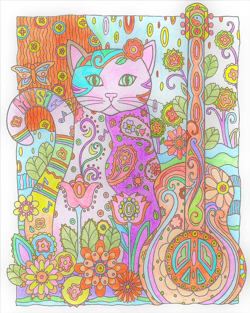 Music Cat by WiccaSmurf
