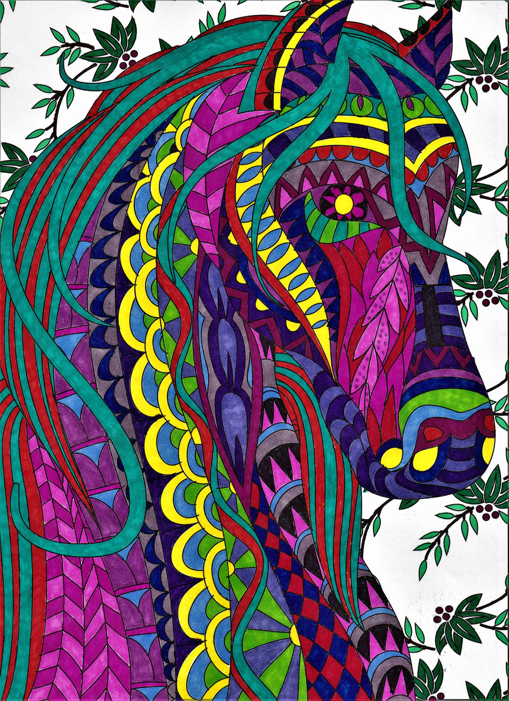 Psychedelic Horse by WiccaSmurf