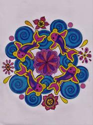 Mandala Fish by WiccaSmurf